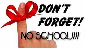 PA Day Reminder!